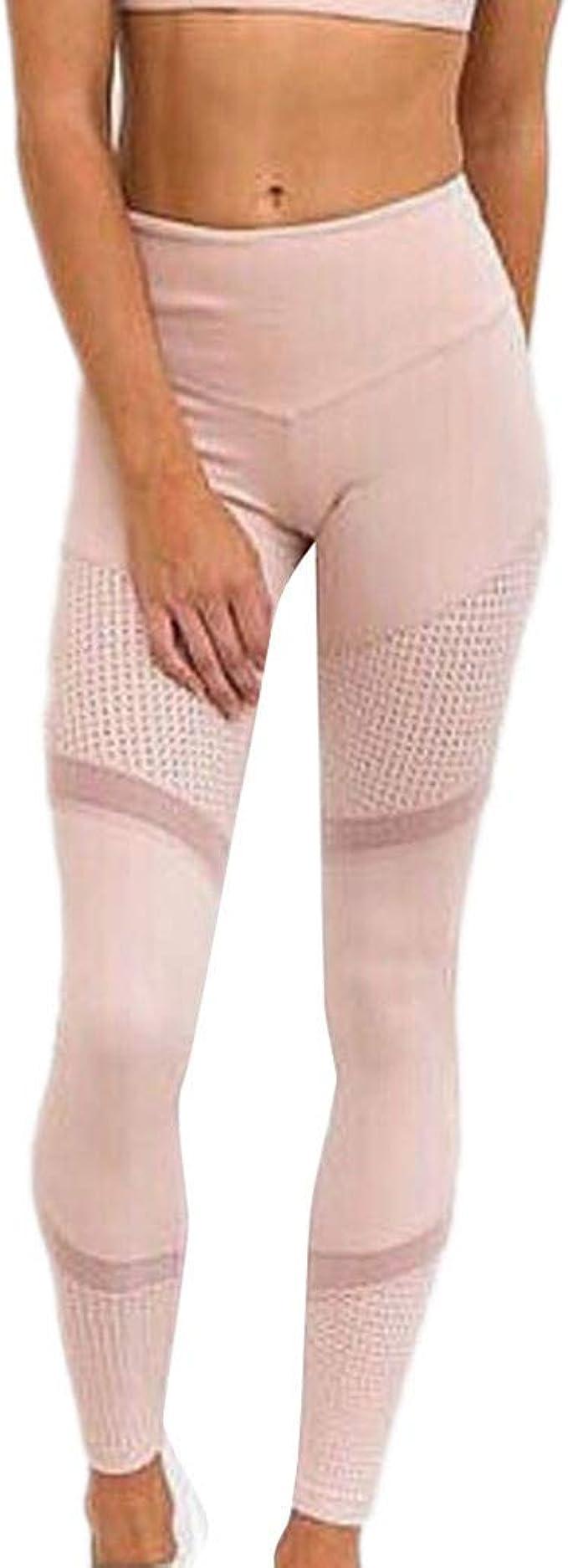 Dorical Leggings Taille Haute Solides Femmes Yoga Pantalons Leggins en Cuir maill/é Pantalon de Yoga Slim Skinny Running Jogging Pants Maille Respirant Fitness Trouser Mode Casual Sport