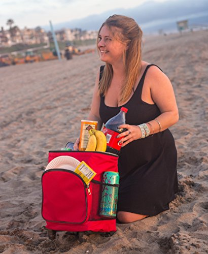 dbest products Ultra Compact Smart Cart,Red Insulated Cooler by dbest products (Image #3)