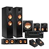 Klipsch RP-280F 5.1.2 Dolby Atmos Home Theater System with Onkyo TX-RZ710 7.2-Ch Network A/V Receiver
