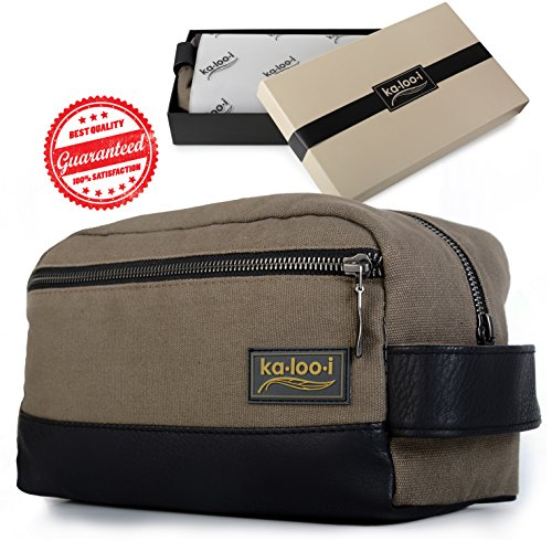 Dopp Kit Mens Toiletry Bag Travel Toiletry Bag Waterproof Canvas Deal (Large Image)