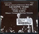 Messa Da Requiem, Te Deum (Historic Concert Performances, 1940) (Discs was made in Japan)