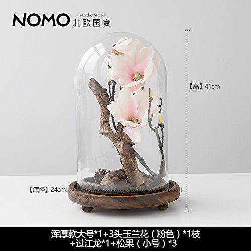Wood Base Glass Dust Cover Micro Landscape Home Furnishing Decoration Ornaments Ikebana And Zen Waiting For Love