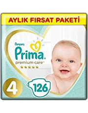 Prima Bebek Bezi Premium Care 4 Beden 126 Adet Maxi Aylık Fırsat Paketi