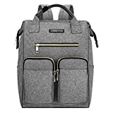 JINS & VICO Laptop Backpacks, Wide Open Professional Business Laptop Bag Large Bookbag Handbag Casual Daypacks for School/College/Business, Grey