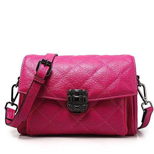 Lavoro Genuino Borse Corsa Ladies Fashion Rosa A Del Lingge Tracolla Di In Pelle Messenger Sacchetto 8ypBwqC