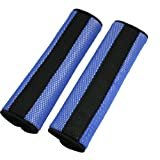 uxcell® Motor Detachable Fastener Blue Black Seatbelt Cover Pad Pair