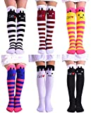 BogiWell Girls Cute Animal Socks Cotton Over Calf Knee High Socks 6 Colors Style 3,One Size