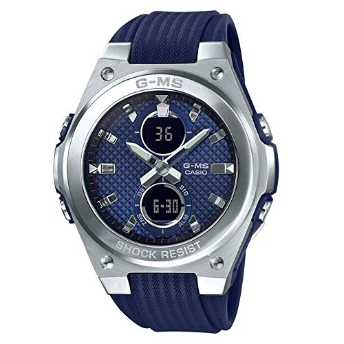 Ladies' Casio Baby-G G-MS Stainless Steel and Navy Dial Watch MSGC100-2A