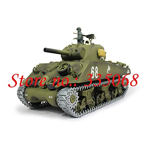 HENG LONG 3898-1 RC tank U.S Army Sherman M4A3 1/16 RC battle tank RTR-2.4G metal verstion with smoking function