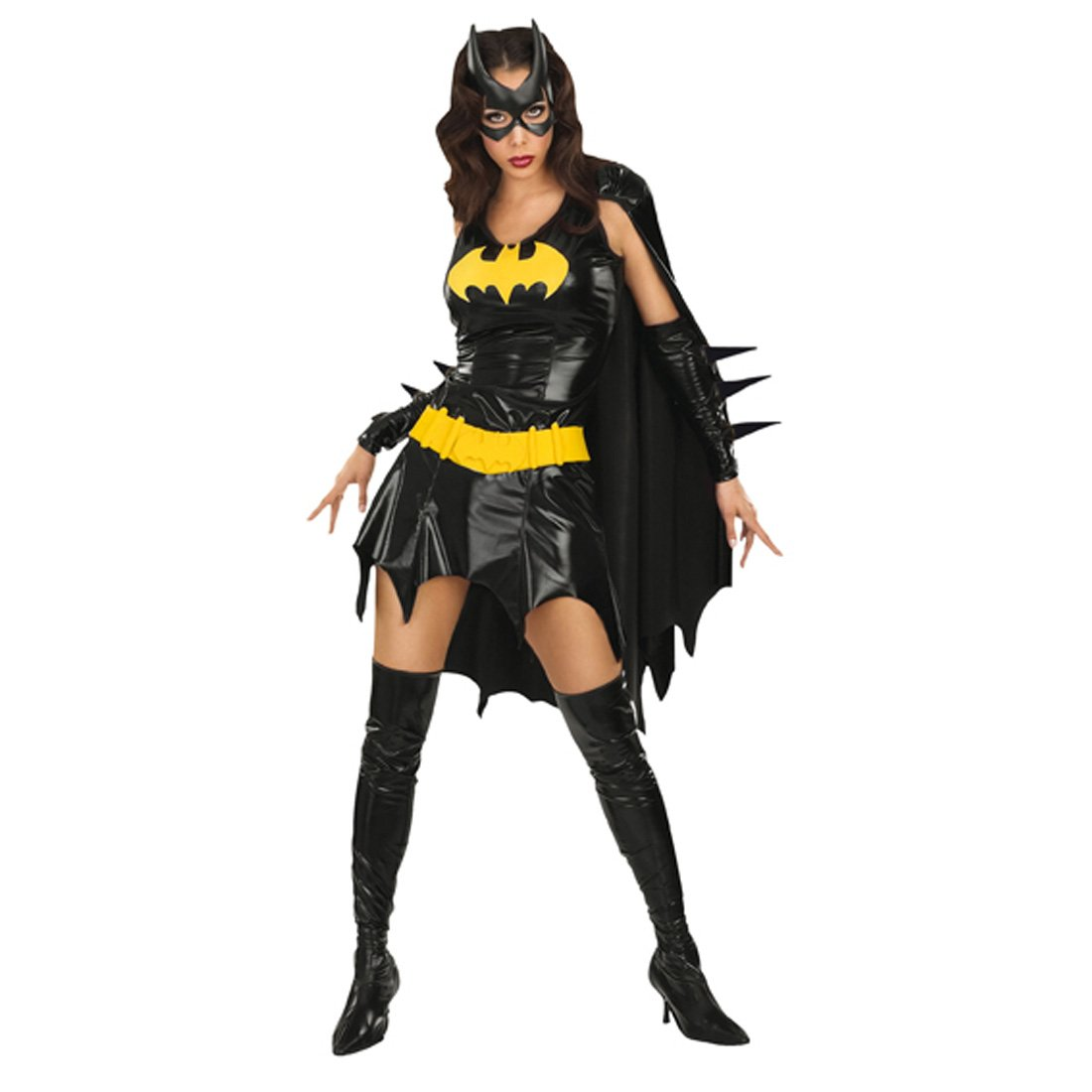 Schwarzes Batgirl Kostüm L 42/44 Superhelden Bat Girl Karnevalkostüm Fledermaus Outfit Verkleidung Damen Frauen
