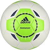 adidas Performance Starlancer IV Soccer Ball, White/Solar Green/Rich Blue, 3