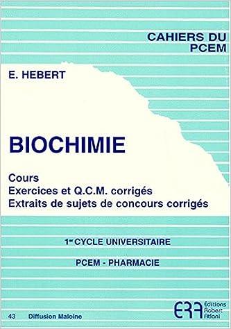 Télécharger en ligne Biochimie pdf