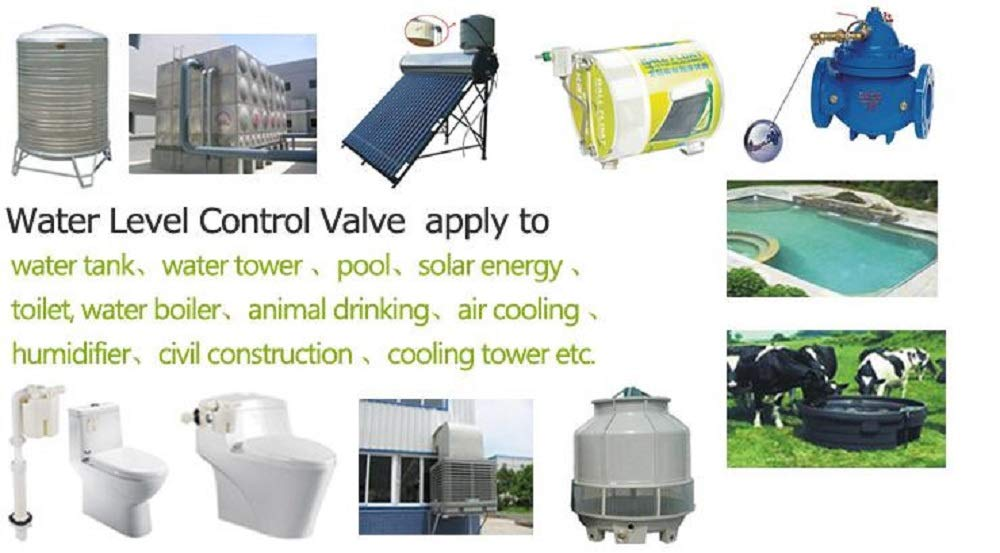 1//2 Inner top Water Inlet Automatic Float Valve Water Level Control Valve JYN15-1//2 Used for Solar Water Tank Tower Pool