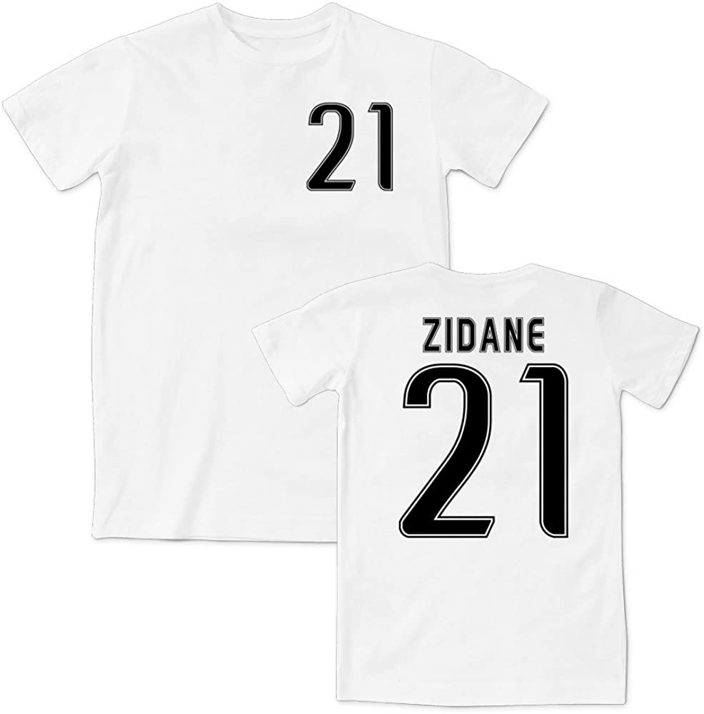 Zidane 21 Juventus Style T Shirt 15 16 White Black Amazon Co Uk Clothing