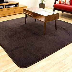 フランネルラグ Lana ラーナ 185×185cm 約2畳用 カーペット