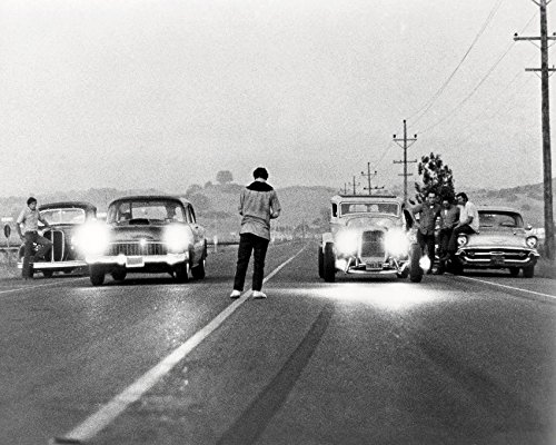 Erthstore 8x10 inch Photograph of American Graffiti Classic Hot Rod Drag Race Scene Milner's '32 Ford Coupe & Falfa's '55 32 Ford Coupe Hot Rod