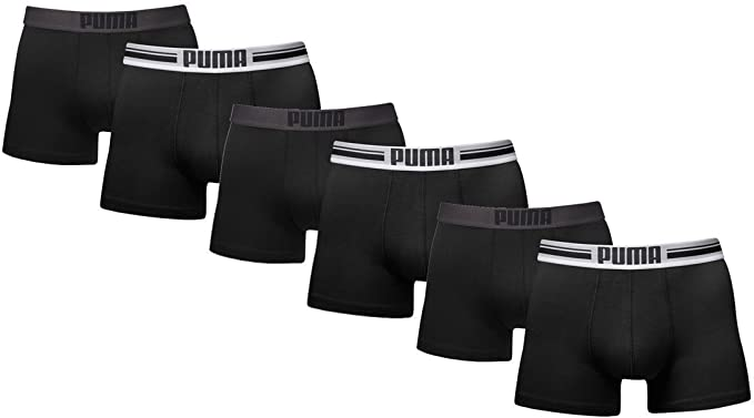 PUMA Logo Boxer Pantalones Cortos Retros para Hombre. 6 Unidades ...