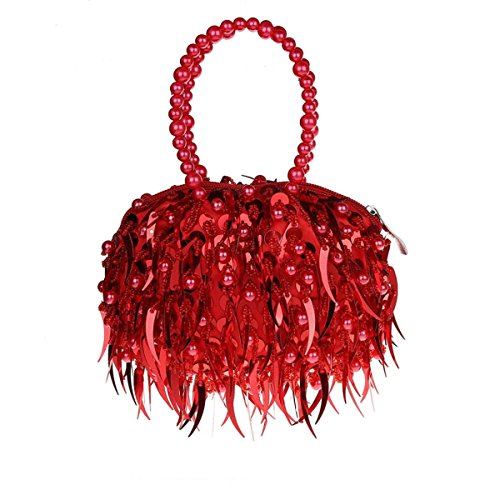 Party New GSHGA Silver Mini Bag Clubs Bag Beaded Bag Fashion Wedding For Clutch Sequin Evening Bride Bag Purse Red Dress ZqdqUr