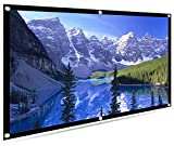 100 inch Projection Screen 16:9 HD Portable Projection Display Movie Screen Foldable Anti-crease Portable Projector Movies Screen for Home Theater, Outdoor Camping Theater,Support Double Sided Project