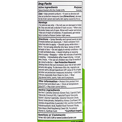 Goddess Garden Sunny Kids Natural Sunscreen Spf 30 Continuous Spray - 6 oz (pack of 6) image may vary by Goddess Garden (Image #1)
