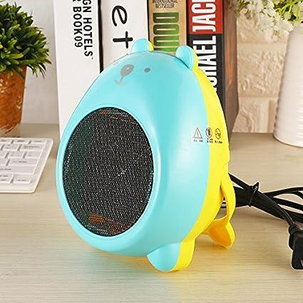 Cartoon Mini Ventilador eléctrico de calefacción calefacción doméstica de escritorio pequeño lindo cálido hogar del ventilador
