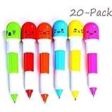 20Pcs Multicolor Vitamine Pilule Stylo a Blle Bic Retractable(Couleur Aleatoire)