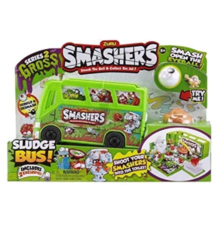 Smashers Series 2 Gross Sludge Bus Playset