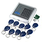 Water & Wood New Security RFID Proximity Entry Door Gate Lock Access Control System for 500 User +10 Key Fobs
