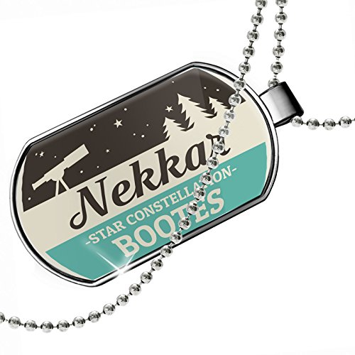 Dogtag Star Constellation Name Bootes - Nekkar Dog tags necklace - Neonblond by NEONBLOND