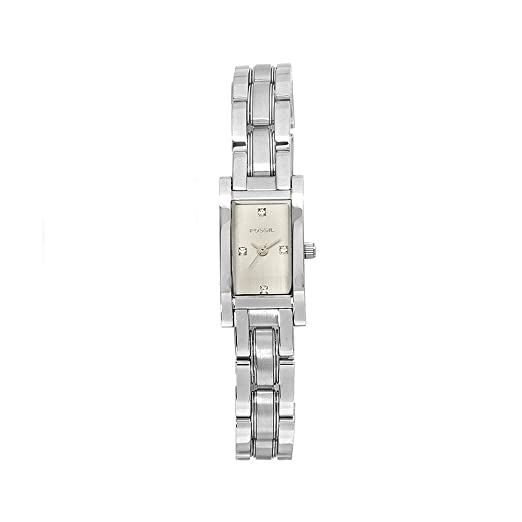Fossil Womens Quartz Stainless Steel Casual Watch, Color:Silver-Toned (Model: