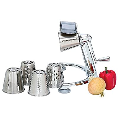 Maxam Vegetable Chopper with 5 Stainless Steel Cones - Blades with Cutter, Dicer, Slicer, Grater, Salad Shredder - Manual Professional Heavy Duty Commercial Industrial Chef Restaurant Kitchen Tool (Vegetable Chopper) (Vegetable Chopper)
