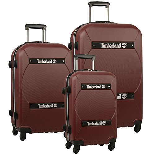 Timberland Shelburne Expandable Three Piece Hardside Luggage Set (21In/24In/28In), Chocolate Truffle (Chocolate Timberland)
