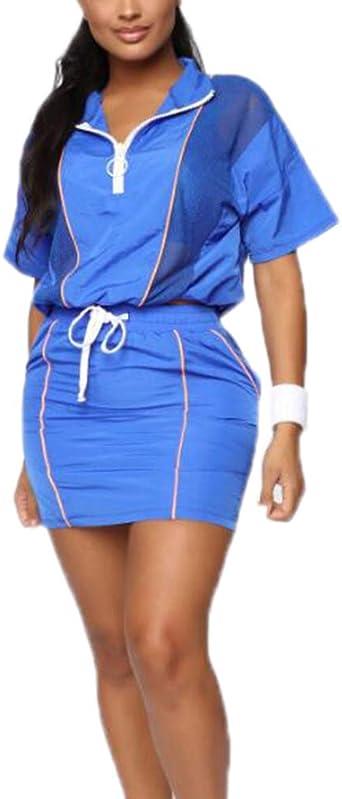 Conjunto de Falda de Mujer - Clubwear Conjunto de 2 Piezas Top ...