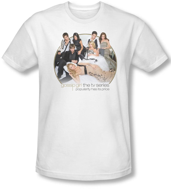 Gossip Girl - Mens Bed T-Shirt In White