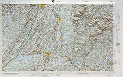 Amazon.com : ROME REGIONAL Raised Relief Map in the states of ...