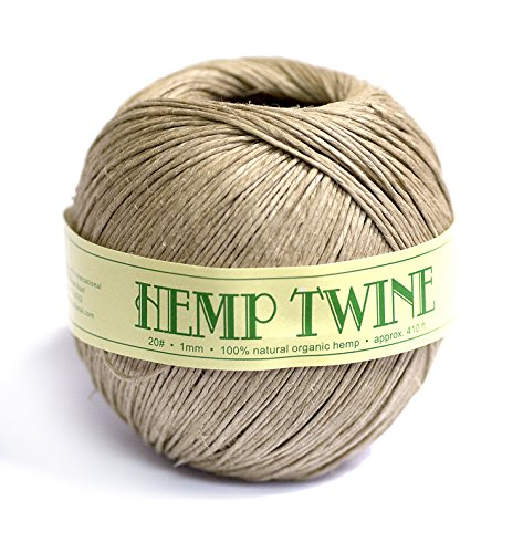- Organic 100% Natural Hemp Twine #20 1mm