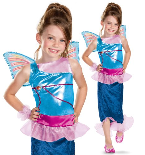 Disguise Girl's Winx Club Bloom Mermaid Classic Costume, -
