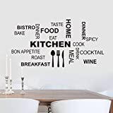kitchen chef wall stickers - Decorstyle Removable Vintage Wall Stickers Bathroom / Laundry Room/ Family Room/ Play room /Toilet Door Sign Vinyl Art Decals (Kitchen (chef's world))