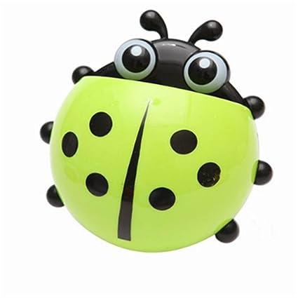 DingXinZM 1 Soporte para Cepillo de Dientes Ladybug para artículos de tocador, Pasta de Dientes