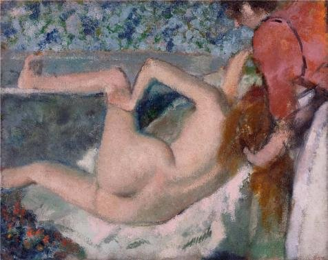['After The Bath,Woman Seen From Behind,1895 By Edgar Degas' Oil Painting, 24x30 Inch / 61x77 Cm ,printed On Polyster Canvas ,this Beautiful Art Decorative Canvas Prints Is Perfectly Suitalbe For Study Decor And Home Decor And] (Costumes Halloween Yahoo)