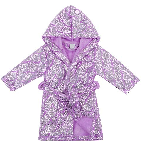 Verabella Boys Girls' Fleece Printed Hooded Beach Cover up Pool wrap,Mermaid,XL ()