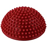 Yoga Half Ball - SODIAL(R)Yoga Half Ball Physical Fitness Appliance Exercise balance Ball point massage stepping stones balance pods GYM YoGa Pilates red