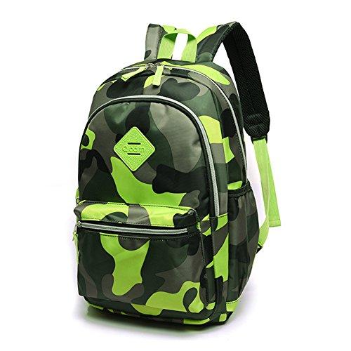 TeMan Kids Backpack Kindergarten Cartoon Schoolbag (Green Camo) by TeMan