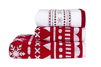 Kingsley Alpine Christmas Bathroom Towel Bale - bails come as 2 ...