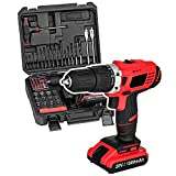 Cordless Electric Drill Driver Kit Portable Lithium-Ion Brushless Compact Drill Driver with Storage Case (20V Updated Version)
