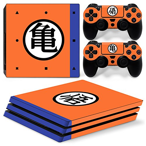 GoldenDeal PS4 Pro Skin and DualShock 4 Skin - DBZ - PlayStation 4 Pro Vinyl Sticker for Console and Controller Skin (4 Dragon Z Playstation Ball)