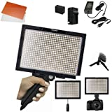 Yongnuo YN600S LED Video Light 5500K PRO KIT W/ AC adapter Battery , Charger ,Stand , ++