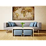 Damenight Modern Canvas Wall Art painting for home decor large old vintage paper map of world print on canvas seascape the picture for home wall decor deccoration