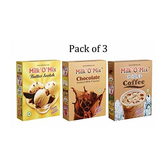 Milkomix Butter Scotch, Chocolate & Cold Coffee Flavored Milk Powder