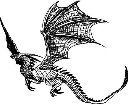 Azeeda A8 'Dragón Volando' Sello de Goma (Desmontado) (RS00024005): Amazon.es: Juguetes y juegos
